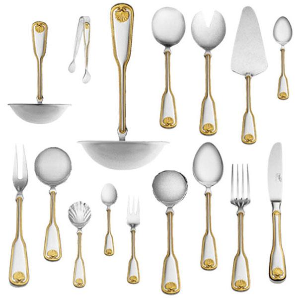 Набор столовых приборов Венус декорированный золотом на 6 персон (48 предметов) от Цептер