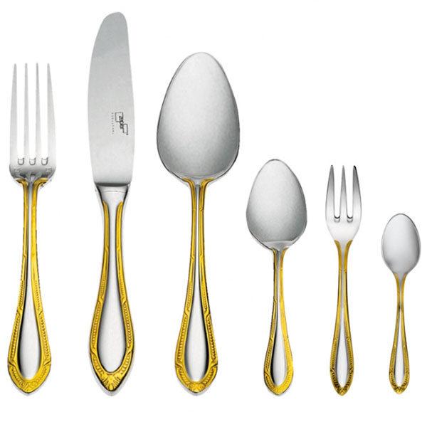 Набор столовых приборов Сенатор декорированный золотом на 6 персон (48 предметов) от Цептер
