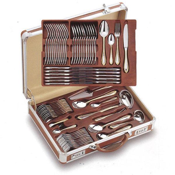 Чемодан алюминиевый для столовых приборов (коричневый) от Цептер