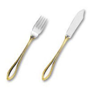 иш сет Сенатор декорированный золотом на 6 персон (12 предметов) от Цептер