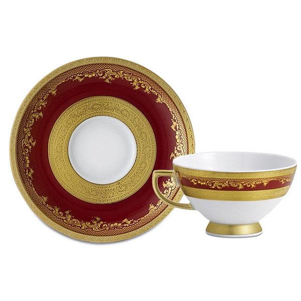 Фарфор Royal Gold - Кофейный набор Дополнение Бордо (12 Единиц) от Цептер