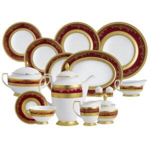 Фарфор Royal Gold - Набор для Ужина 6 Персон Бордо (25 Единиц) от Цептер