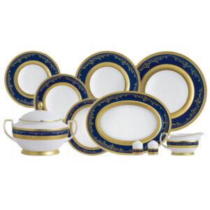 Фарфор Royal Gold - Набор для Ужина 6 Персон Кобальт (25 Единиц) от Цептер