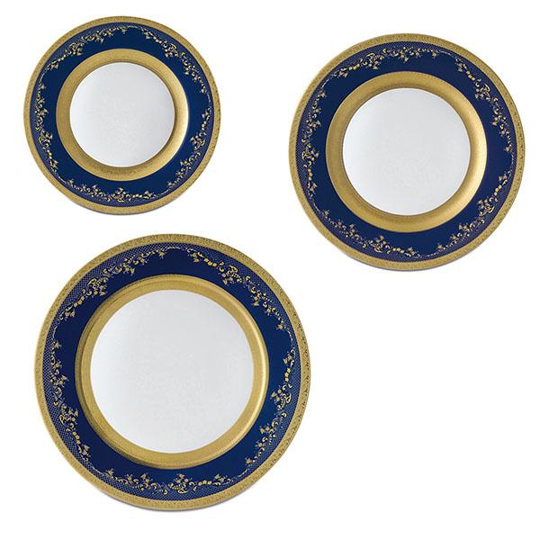 Фарфор Royal Gold - Набор для Ужина Дополнение Кобальт (18 Единиц) от Цептер