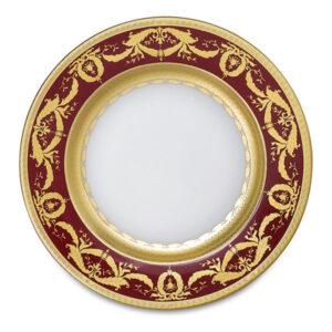 Фарфор Imperial Gold - Тарелки для Хлеба 17 см Бордо (6 Единиц) от Цептер