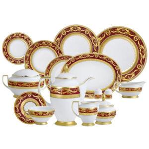 Фарфор Imperial Gold - Полный Набор на 12 Персон Бордо (70 Единиц) от Цептер