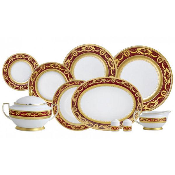Фарфор Imperial Gold - Набор для Ужина 12 Персон Бордо (43 Единицы) от Цептер