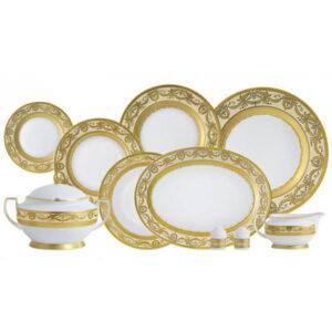 Фарфор Imperial Gold - Набор для Ужина Дополнение Кремовый (18 Единиц) от Цептер