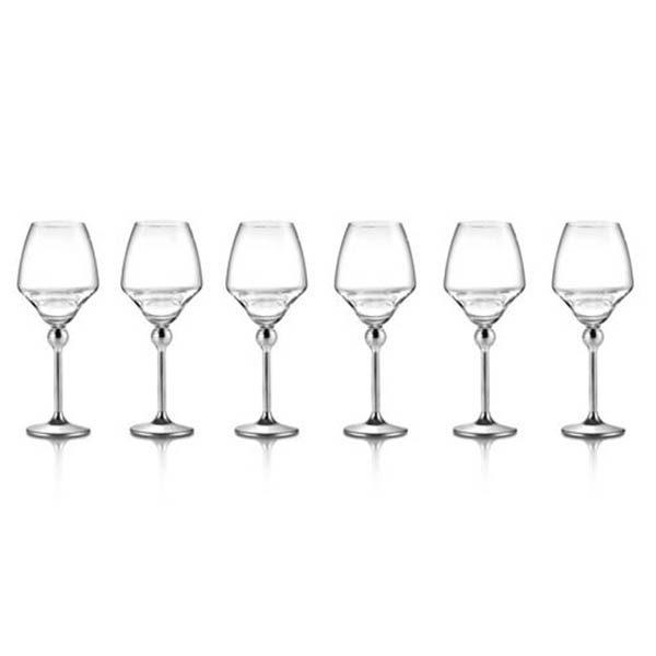 Бокалы для белого вина с металлическими ножками - 6 ед. от Цептер