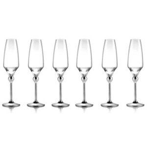Бокалы для шампанского с металлическими ножками - 6 ед. от Цептер
