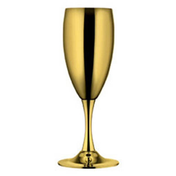 """Фужеры для шампанского """"Ла Перле"""" 6 шт - позолоченные от Цептер"""