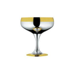 """Набор бокалов для шампанского """"Барон"""" - с серебряным покрытием и золотым декором от Цептер"""