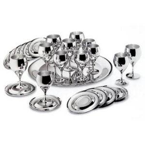 """Набор бокалов для вина """"Принц"""" - с серебряным покрытием от Цептер"""