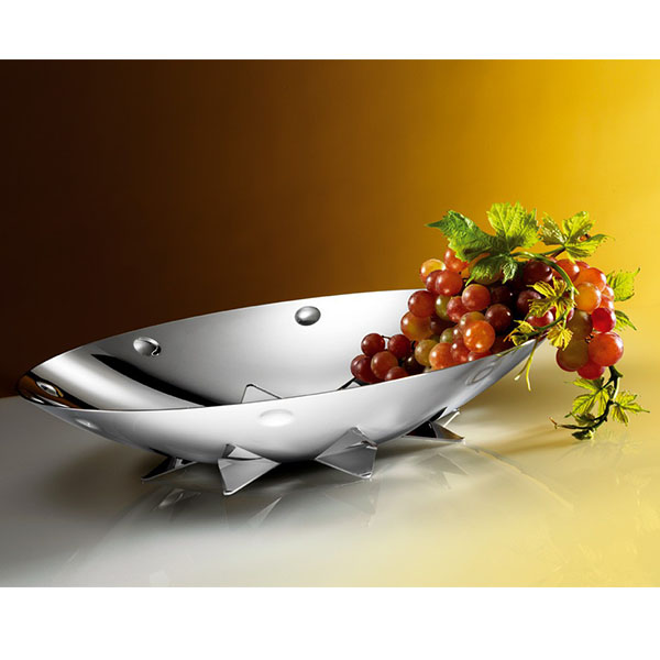 """Круглая ваза для фруктов """"SUNFLOWER"""" от Цептер"""