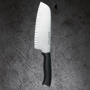 """Нож Cантоку - """"Resolute"""" с углублениями в режущей кромке от Цептер"""
