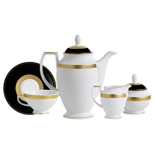42b09e626 Фарфор black & white - Кофейный Набор на 12 Персон Черно-Белые ( 27 Единиц